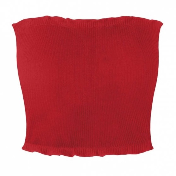 99f66c2c20f Red Tube Crop Top. M_5b2b2131fe51513c65ae4f33. Other Tops you may like.  Zaful tie front blouse